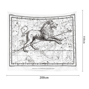 Monad Ins Vintage Custom Small Lines Printed Black And White Constellation Map Wall Hanging Tapestry