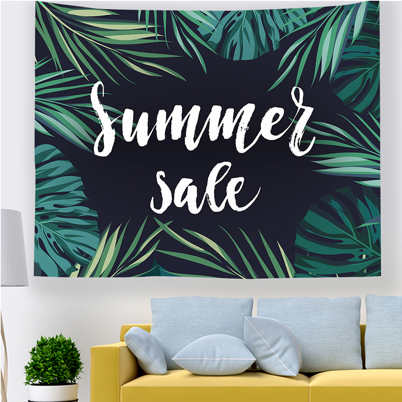 Monad Digital Printed Nature Floral Palm Leaf Ocean Wall Hangings Tapestry
