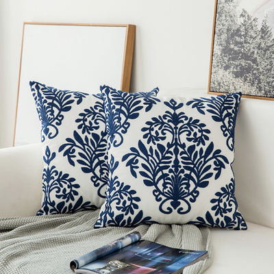 Monad Wholesale Nordic Decorative Sofa 100% Cotton Embroidered Cushion Covers