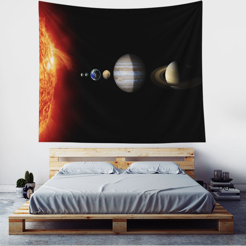 Monad Moon Phase Planet Space Custom Printed A Wall Hanging Tapestry