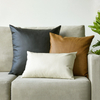 Monad Nordic Decor Custom Size Soft PU Leather Cushion Cover For Sofa