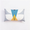 Nordic Decorative Blue And White Geometric Chair Digital Printed Pillow Covers