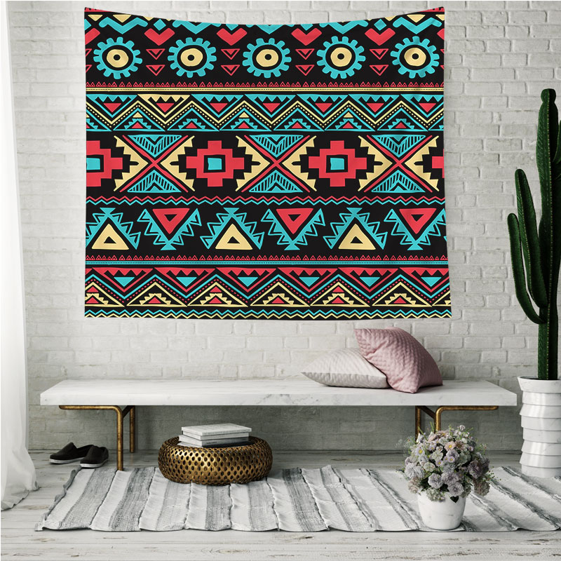 Red Ethnic Indian Mandala Large Fantasy Wall Hangings Tapestry