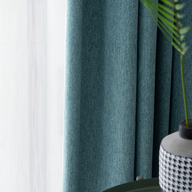 Monad Modern Nordic Wholesale Solid Green Fabrics In China Curtain For Livingroom