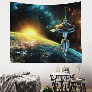 Monad Galaxy Custom Wall Hanging Machine Painting Tapestry For Wall