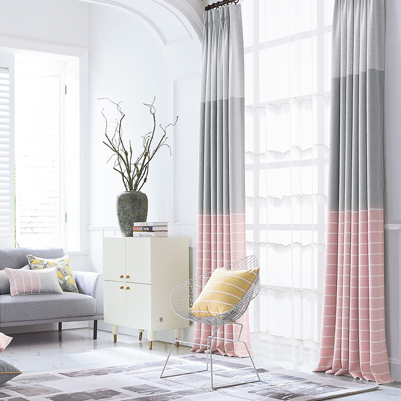 Monad Decorative Door Striped Blackout Curtain Fabric For Curtains And Draperys