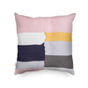 Monad Best Selling Geometric Block Color 100% Cotton Art Embroidery Cushion Cover