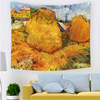 Monad Custom Size Printed Colorful Famous Sunflower Starry Sky Painting Wall Hangings Tapestry