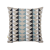 Nordic Light Blue Navy Silver Geometric Sublimation Pattern For Cushion Cover