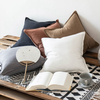 Monad Nordic 50 x 50 chair white plain cotton canvas linen pillow cover