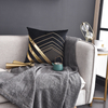 Monad Gold Applique Black Sofa Polyester Embroidery Velvet Cushion Cover