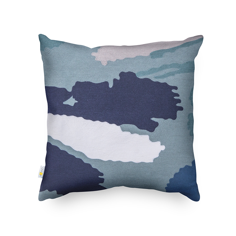 Monad Modern Custom Art Watercolor Design 100% Cotton Hand Embroidery Cushion Cover