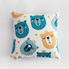Decorative Baby Body Children Animal Couch Printing Throw Pillow Cover