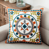 Monad European Ethnic Decorative Hand Embroidery Design Throw Flowers Pillow Cushion Cover